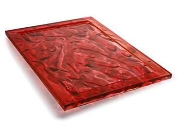 Kartell Plateau Dune Large, Plastique, Red, 38x55x3 cm
