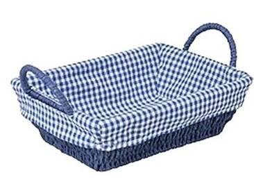Adam Schmidt 6066 Bol rectangulaire avec Poignée, Papier, Bleu/Blanc, 24 x 18 x 12 cm