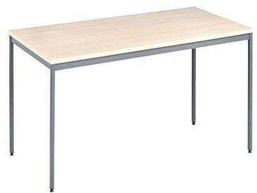 Eliza Tinsley Furniture mod/1400/1400x 800mm GM érable Versa Table avec Cadre Gris Marteau