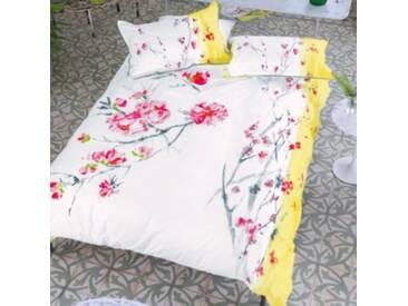 Designers Guild - Oriental Flower Housse de Couette Satin de Coton Acacia 140 x 200 cm