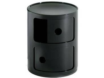 Kartell 496609 Meuble de rangement Componibili (Noir)