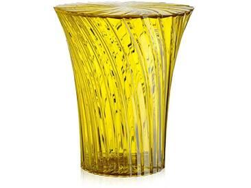 Kartell tabouret 8818MI sparkle jaune