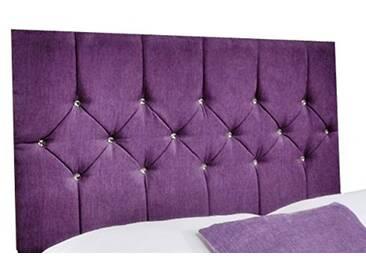 Interiors 2pour u Petit Belle Chenille Diamante Cristal/tête de lit Double, 4m, Violet