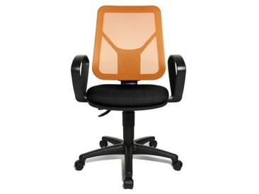 Topstar AN20BG204 Airgo Net Chaise de Bureau Orange 46 x 46 x 111 cm