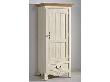 Macazba Bonnetière 1 Porte 1 tiroir en chêne Massif Marguerite de Provence, Ivoire Blond, 80x56x180 cm