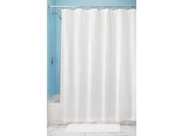 InterDesign Decorative Poly Blend rideau de douche - rideau baignoire en polyester et coton de 183 -0 cm x 183 -0 cm - blanc