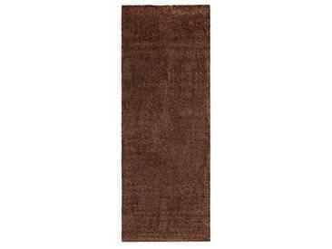andiamo 700607 Paillasson Samson uni 50 x 80cm en Coton, Lavable à 30°C, Marron, 67x180 cm