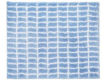 Kleine Wolke 4039723539 Miramar Tapis de Bain Polyacrylique Filé Bleu Azur 55 x 65 x 0,2 cm