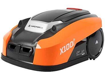 Yard Force Tondeuse Robot Electrique X100i avec Technologie Sensorielle Ultrasonique – Application Connectée - Pelouse jusqu'à 1000m², Largeur de coupe 18cm