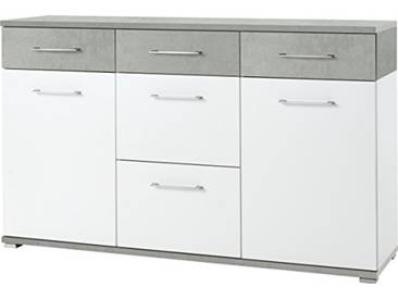 Germania Buffet 3778-531 GW-Topix coloris Blanc/Apparence Béton, l/h/p env. 144/87/40 cm