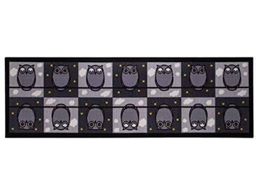 andiamo tapis Emil chouette noir/blanc, noir, 57x180 cm