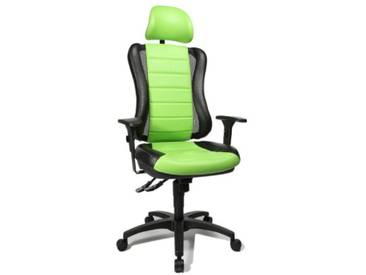 Topstar HE30PS105X Head Point RS SY Chaise de Bureau avec Têtière Vert/Noir 47 x 50 x 150 cm