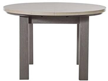 GAMI Table Ronde 1 Allonge, Bois, 90 x 180 x 77 cm