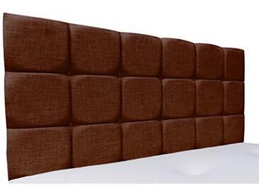 Interiors 2Combinaison U Alice Parure de lit capitonnée, Tissu, Marron, 8x 135x 62cm