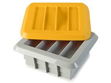 IBILI 747000 Kit pour 12 Barres Énergétiques Artisanale Silicone Gris/Orange 15 x 7 x 7 cm 6 Pièces
