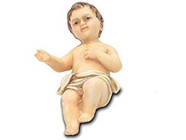 Moranduzzo Gesu Enfant, résine, 20cm, Multicolore