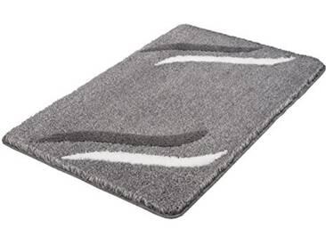 Kleine Wolke Textilgesellschaft Tapis de Bain Florenz, Polyacrylique, Gris Anthracite, 60 x 100 x 2 cm