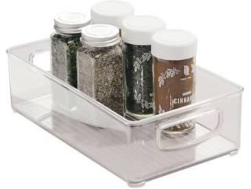 InterDesign Cabinet/Kitchen Binz boîte de rangement, petit bac pour réfrigérateur en plastique, transparent