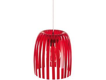 koziol suspension Josephine M, thermoplastique, rouge transparent, 31,3 x 31,3 x 35 cm