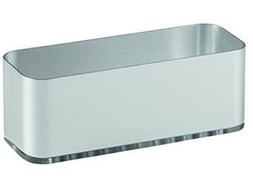 InterDesign 82776EU Support dÉvier à Ventouses Auto-Adhésif Antirouille Aluminium/Plastique Argent/Fumée 16,84 x 6,68 x 8,89 cm