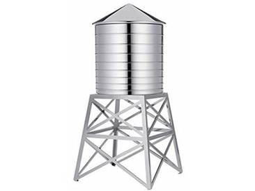 Alessi Dl02 Water Tower Récipient en Acier Inoxydable 18/10 Brillant avec Support