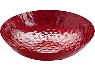 Alessi Cr01/37 Po Joy N.1 Centre de Table en Acier Coloré à la Résine Au Époxyde à Effet Émaillé, Pomegranate, Ø 37 Cm