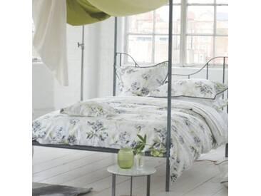Designers Guild - Freya Drap Housse Satin de Coton Gris 160 x 200 cm