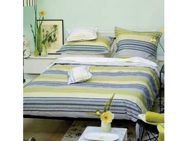Designers Guild - Purbeck Taie dOreiller Percale de Coton Vert/Gris 50 x 75 cm