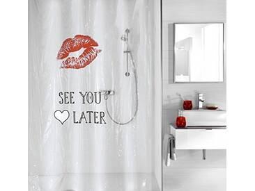 Kleine Wolke 5220462305 See You Rideau de Douche en Polyester Rouge 180 x 200 cm
