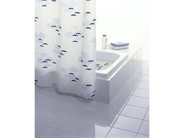 Grund Rideau de douche Nube 180x 200cm Blanc/Bleu