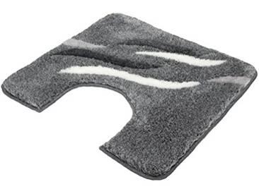 Kleine Wolke 5492901129 Shadow Tapis de bain WC Polyacrylique Anthracite 55 x 55 x 2 cm