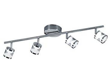 Trio Leuchten Levisto Suspension à LED, 4er-Balken Nickel matt 4.5 wattsW