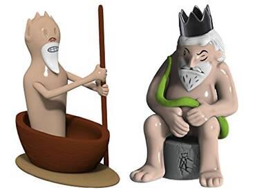 Alessi Amgi42set3 Caronte E Minosse Set de deux Figurines en Porcelaine, decorées à la Main