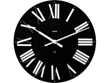 Alessi 12 B Firenze Horloge Murale en Abs, Noir, Mouvement Au Quartz
