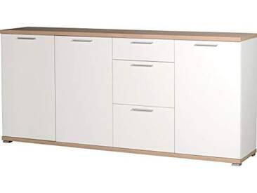 Germania Buffet 3202-178 GW-Top coloris Blanc/Finition: Chêne Sonoma-repro, l/h/p env. 192/88/40 cm