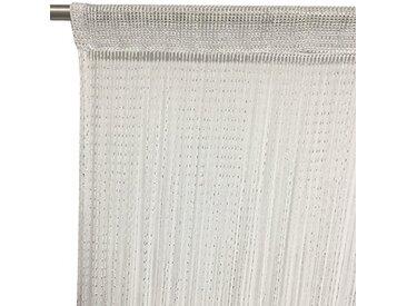 Just Contempo Rideau de Porte avec Motifs en Forme de cœurs, Tissu, Blanc, 90 x 200 cm