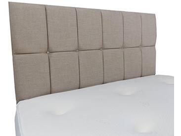Interiors 2Combinaison U Nancy Parure de lit capitonnée, Tissu, crème, 7.5x 90x 62cm