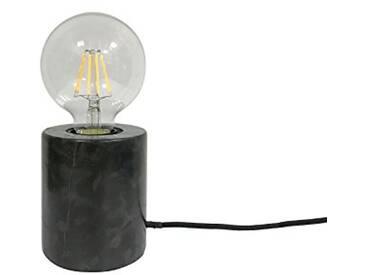 Leitmotiv LM1573 Lampe de Table Marbre, 40 W, Noir
