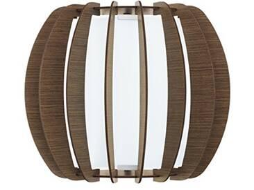 Eglo étoilé 3Indoor E27–Wood Wall Lighting (Surfaced, Indoor, Wood, Glass, Steel, Wood, iP20, les)