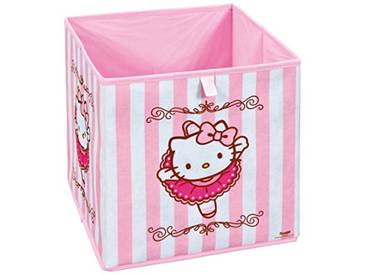 Interlink 99200452 Hello Kitty Ballerina Banc de Rangement Plastique Rose/Blanc 32 x 32 x 32 cm