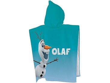 CTI - Disney - La Reine des Neiges - Cape de Bain Frozen Enjoy 60x120 100% Coton, Bleu, 120 x 60 cm