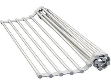 InterDesign 51346EU Égouttoir dÉvier Anti-Rouille Aluminium Argent 46,99 x 27,94 x 0,86 cm