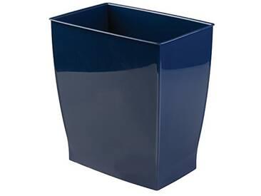 Interdesign 65141EU Mono Corbeille à Déchets Polyester Bleu 28,4 x 18,8 9 x 30,3 cm
