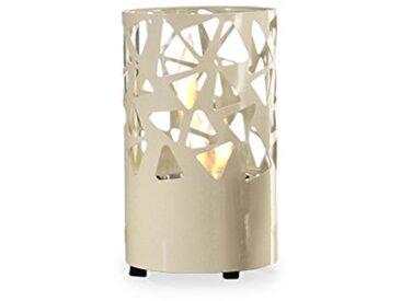 Design Twist Cheminée bioéthanol Pierres Ebay métal Blanc