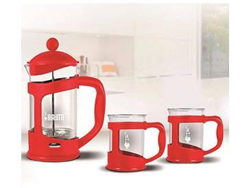 Bialetti kaffeb ereiter Coffret de 2Tasses, Verre, 30x 20x 15cm, 3unités, Verre, Rot, 30.0 x 20.0 x 15.0 cm
