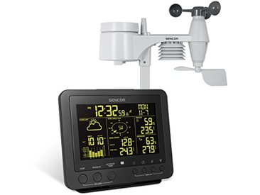 SENCOR SWS9700 Station météo Professionnelle sans Fil 5 en 1 Capteur de Vitesse du Vent DCF Fonction Pluie de température Humidité de l'air Fonction réveil 256 Couleurs
