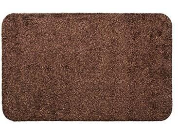 andiamo 700607 Paillasson Samson uni 50 x 80cm en coton, lavable à 30°C, Coton, marron, 60 x 100 cm