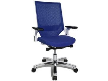 Topstar AU139AT38 Chaise de bureau Bleu one size Tissus dameublement: (100% Trevira CS), la base: aluminium poli one size