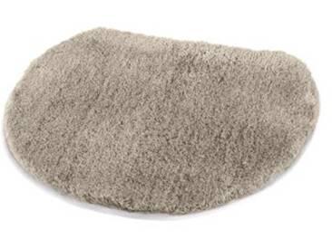 Kleine Wolke Tapis pour abattant WC Soft 47x50 cm en Taupe, Polyacrylique, 20x20x5 cm