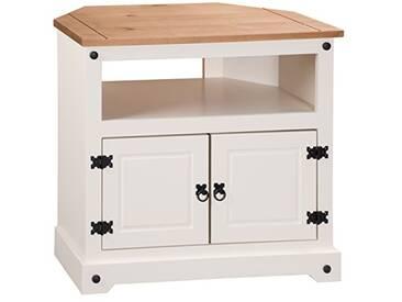 Mercers Furniture Corona Meuble TV dangle, Bois, crème/Pin Antique